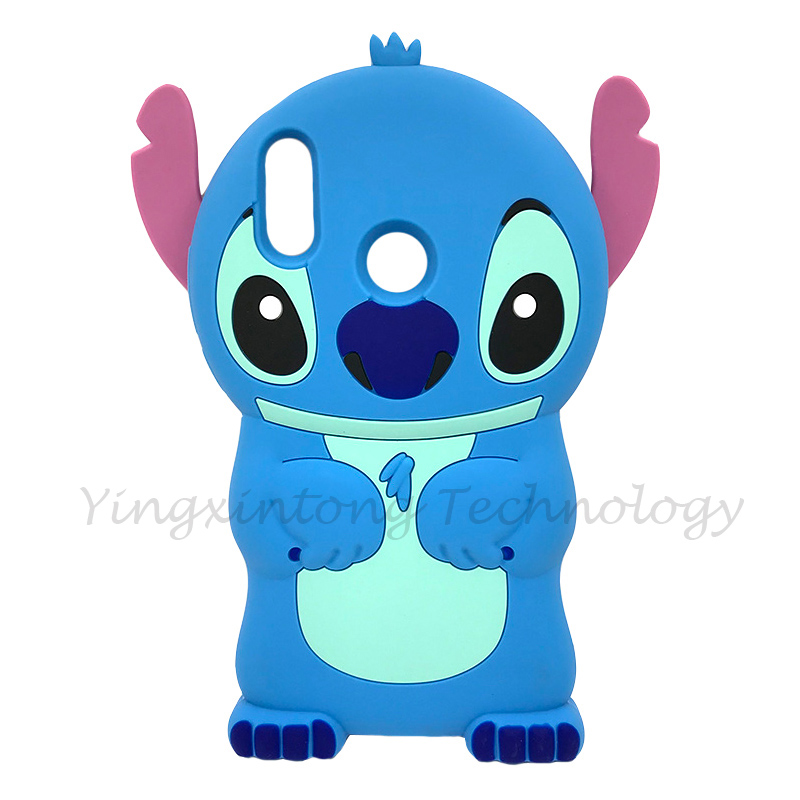 Image 3 - Soft Silicone Phone Case For Huawei P Smart 2019 Case Cute 3D Stitch Cat Unicorn Back Cover For Honor 10 Lite Luxury Funda Coque-in Fitted Cases from Cellphones & Telecommunications