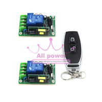 1CH RF Wireless Remote Control Switch Transmitter 2 Receiver 85V 280V For Light LED Lamp Applicance