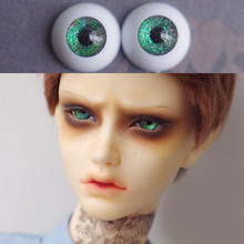 цены на Bjd Eyes for BJD Dolls toys sd eyeball for 1/3  1/4 1/6 1/8 SD Dolls 16mm 18mm 20mm 22mm Acrylic star deep green EYEs for dolls  в интернет-магазинах
