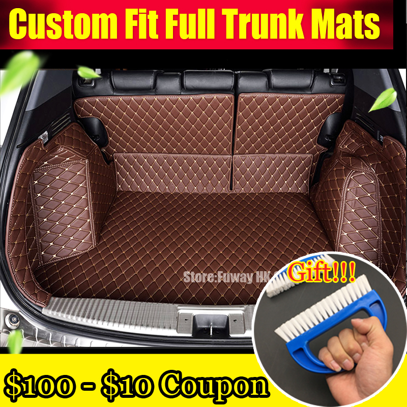 Custom fit car trunk mats for BMW 3/4/5/6/7 Series M3 X1 X3 X4 X5 X6 3D car styling all weather tray carpet cargo liner thicken