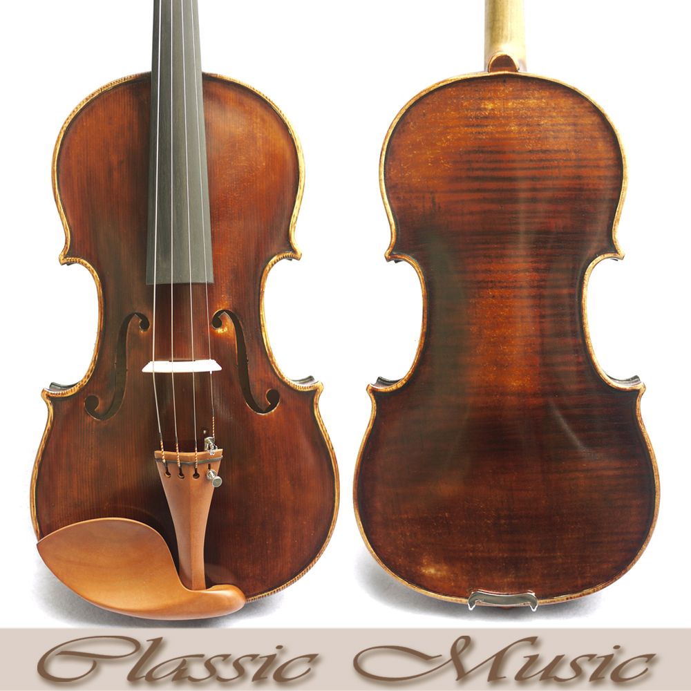 Antique Amati violin,Professional Violin Workshop .No.2403. Deep&Dark  tone,100% Handmade Oil Varnish, Great setup master violin identity copy guarneri del gesuthe cannon1743 strong and deep tone free shipping aubert bridge no 3