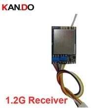 8ch receptor sem fio cctv segurança molde 1.2g receptor 1200mhz cctv transmissor receptor 1.2g fpv transmissão drone