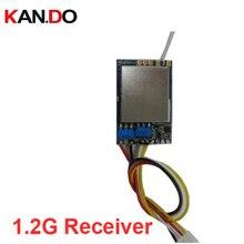 Molde de segurança CCTV receptor sem fio 1.2G receptor RX 1200 mhz transmissão de CCTV receptor transmissor 1.2G receptor FPV zangão