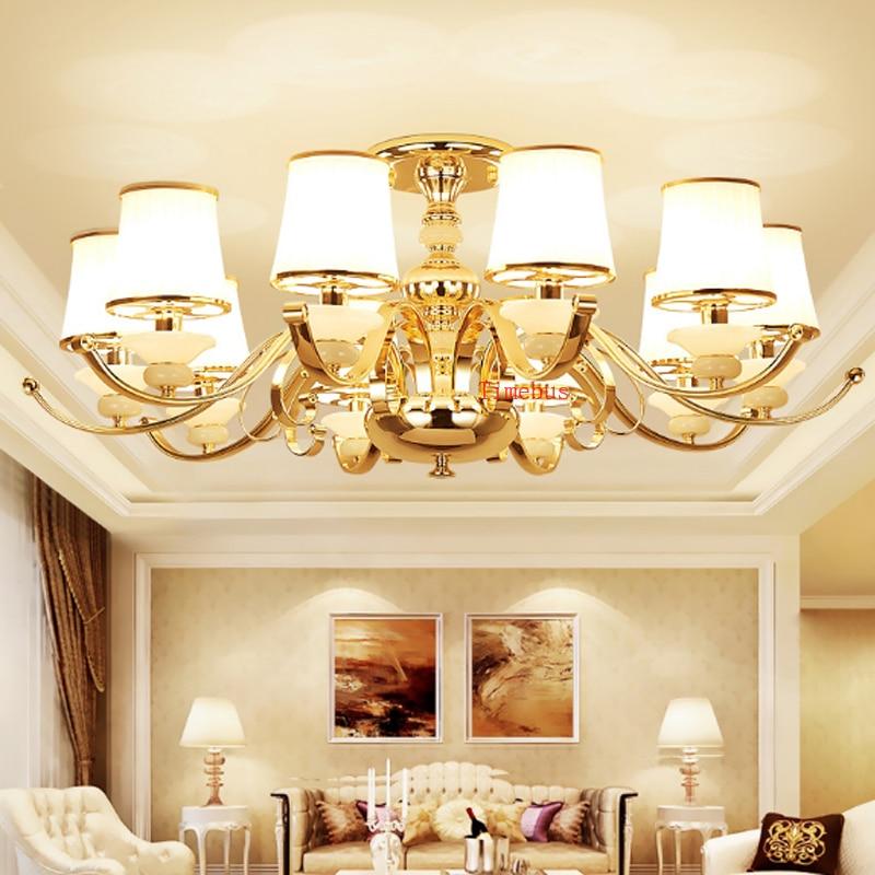 European style living room suction Ceiling lamp modern restaurant  bedroom glass ceiling lamp Hotel beauty salon Ceiling Lights