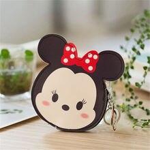 Disney children cartoon Coin purse Mickey Mouse lovely coin bag girl boy gift PU storage key pendant hand bag kid wallet