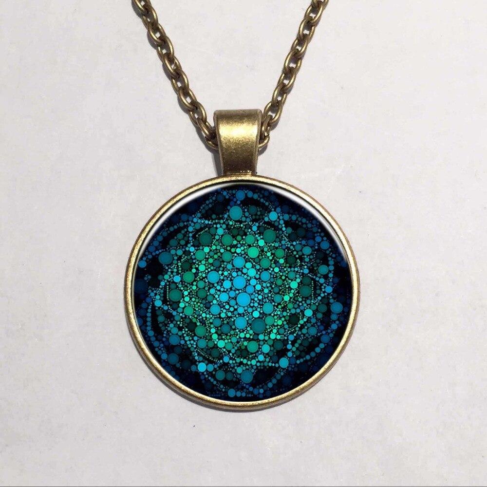 b762097ccc43 2016 nouvelle fleur de la vie collier Om Yoga Chakra pendentif Mandala  collier mode dôme de verre géométrie sacrée bijoux des femmes