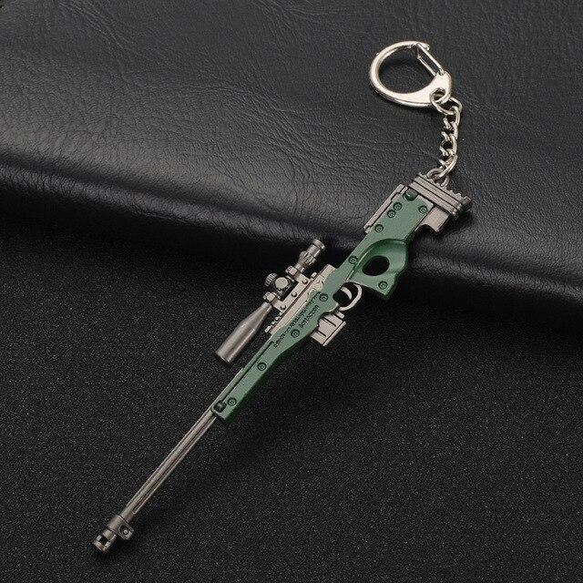 Móc chìa khóa Hot PUBG FPS Trò Chơi Máy Nghe Nhạc Không Rõ của Trận Chiến Căn Cứ 3D Keychain vũ khí ăn gà trò chơi tối nay Người Đàn Ông của xe keychain
