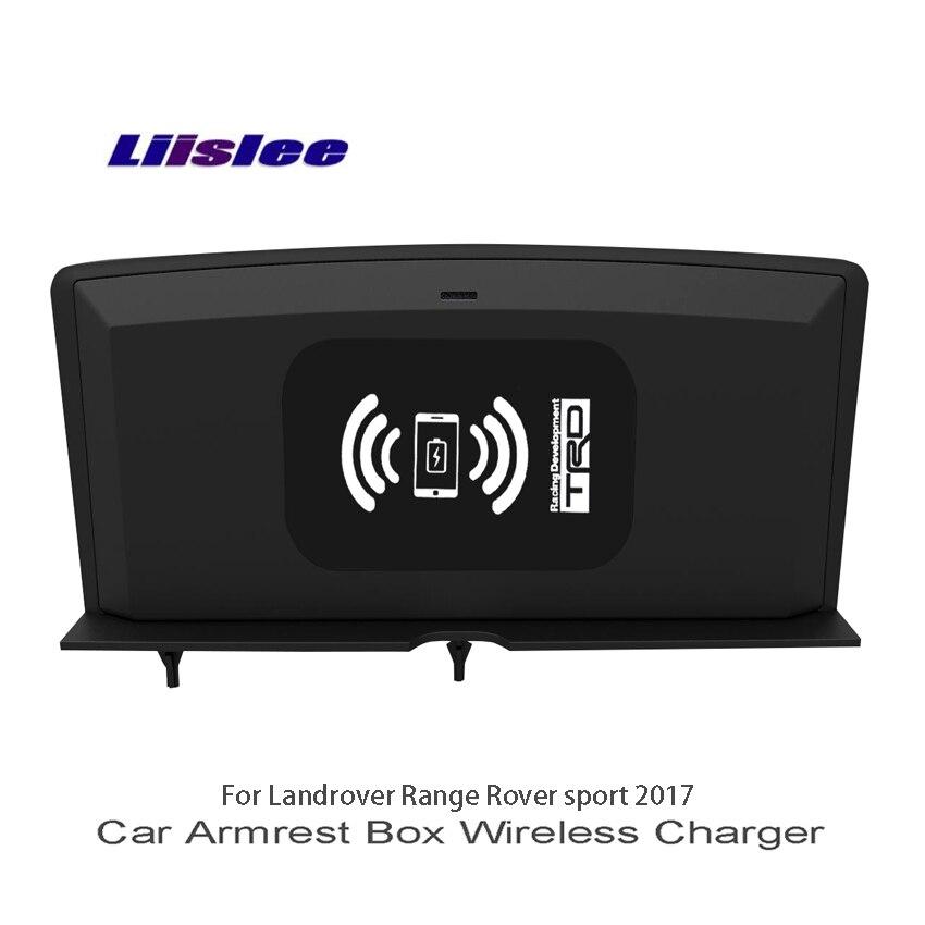 Liislee автомобиля Зарядное устройство центральный магазин Содержание коробка для Landrover Range Rover sport 2017 автомобиль подлокотник окно Wi Fi Зарядное