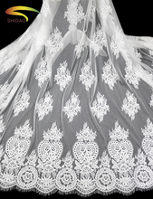 French Eyelash Lace Fabric 150cm White Black Diy Exquisite Lace Embroidery Clothes Wedding Dress Accessories lace fabric 110cm wide wedding dress lace embroidery diy women clothes materials clothing fabric accessories ivory white church happy hour