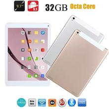 9.7 inch Dual SIM Card Octa Core Android Tablet PC Tab Pad IPS 3G GSM Phablet 4500mAh WIFI Tablet PC 1+32GB US W/ Tablet Charger