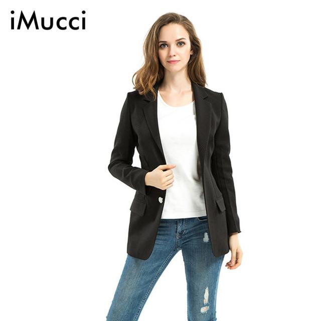 2016 Nova Moda de Luxo Preto Escritório Blazer Entalhado Mulheres Formais Blazer Jaquetas Mulheres do Estilo da Moda Sólidos Casual Blazer Feminino