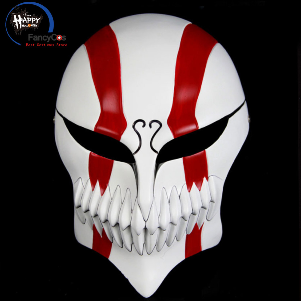 Bleach Mask Kurosaki ichigo Mask Cosplay Helmet Halloween Resin Mask Props Gifts Party High Quality Costume Accessory