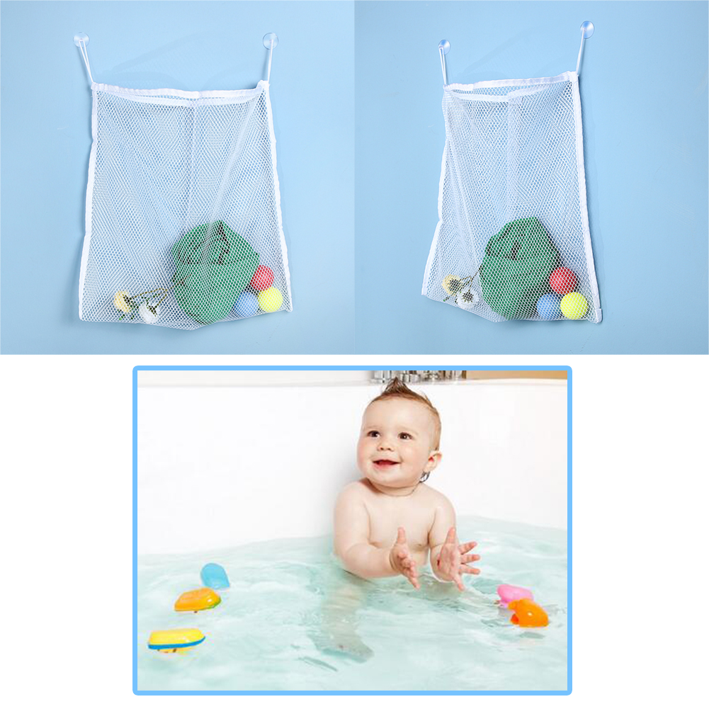 Kids Bathroom Storage Bag Children Toys Shower Paddle Toy Bath Organizer Bag Bathroom Store Mesh Bags Wall Hanging Products