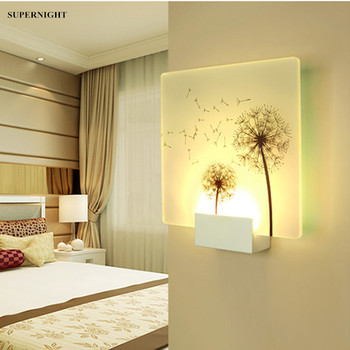 2w 6w led wall sconce light fixture acrylic lamp rotatable bedside lighting aisle hallway living room black white shell 6W Mural LED Wall Lamp Acrylic Sconce Light Modern Home Decoration Lighting Aisle Foyer Living Room Bedroom Bedside Wall Light