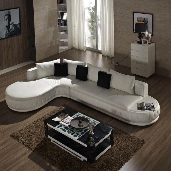 (lounge +2 seat +ottoma/lot) white genuine leather small living room sofa furniture #CE-226(China (Mainland))