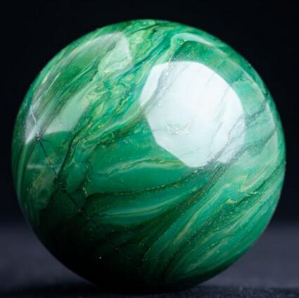 Grand Naturel Africain Vert Jade Cristal Poli Sphère Guérison Ball