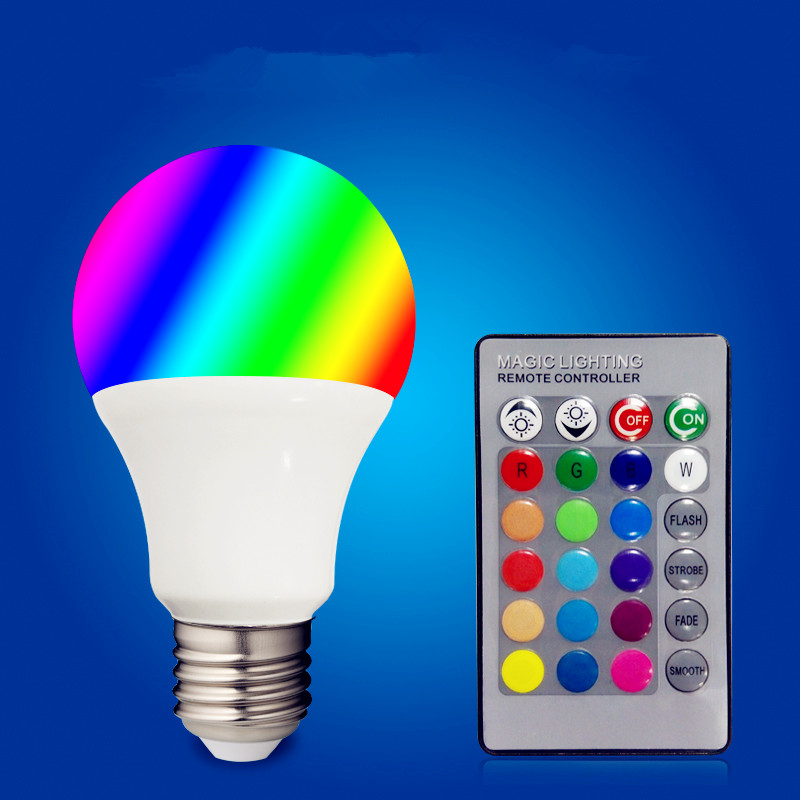 Lights & Lighting Trend Mark Led 3w/5w/10w 16 Color Rgbw 24key Rf Remote Bulb Colorful E27 Energy Saving Dimmable Bulb Dc 85-265v
