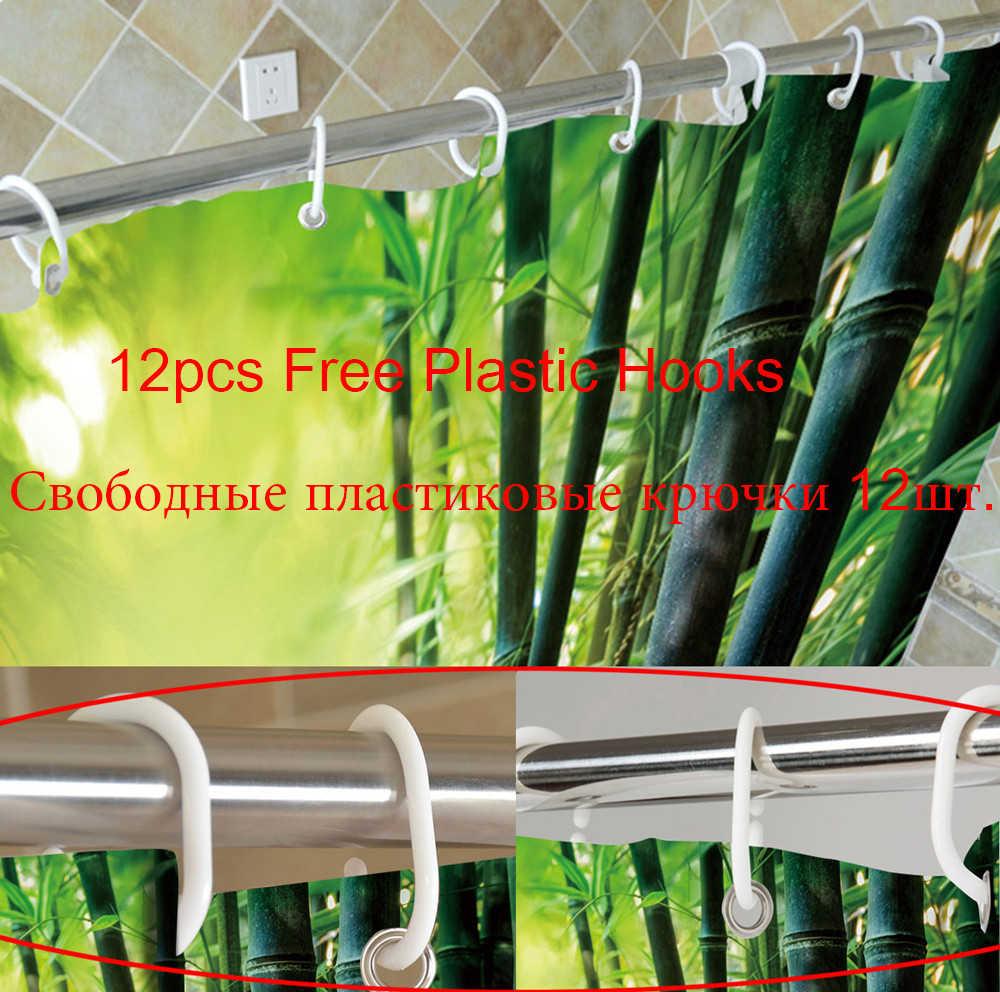 Labu Papan Kayu Pertanian Ware Hari Thanksgiving Tema Shower Tirai Tahan Air Kain Kamar Mandi Bak Mandi Dekorasi Tirai & 12 Kait