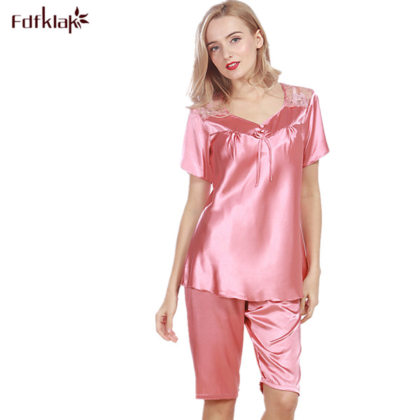 237a53dbb5 Sexy Lingerie Long Sleeve Silk Pajamas For Women Silk Pijamas Satin Pyjama  2017 New Spring Summer Sleepwear Pijama Home Clothes