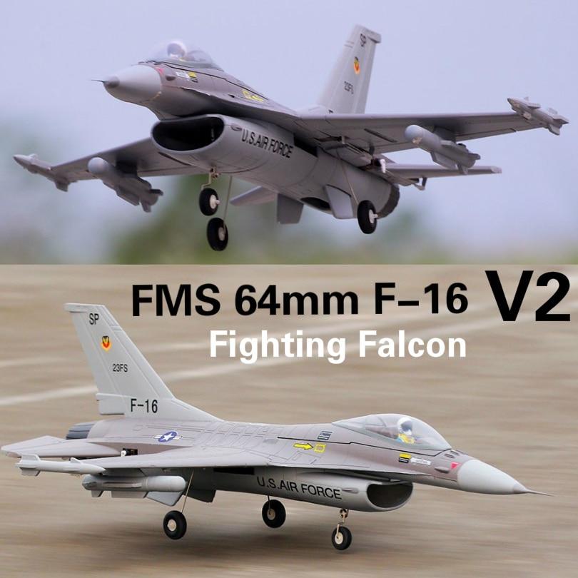 FMS 64mm F16 F 16 V2 Vigilantes Ducted Fan EDF Jet Grey EPO Scale RC Airplane