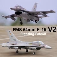 FMS 64mm F16 F 16 V2 Vigilantes Ducted Fan EDF Jet Grey EPO Scale RC Airplane Fighter Model Hobby Plane Aircraft Avion PNP