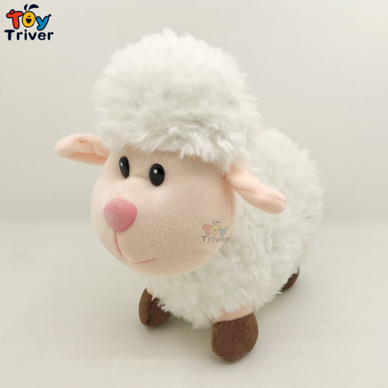 24cm Plush Sheep Toy Stuffed Cartoon Lamb Mutton Alpaca Dolls Baby Kids Children Kawaii Birthday Gift Home Shop Decor Triver cute lie prone dog long pillow cushion bolster plush toy stuffed doll baby kids friend birthday gift home shop decor triver page 2