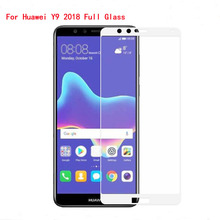 Glass For Huawei Y9 2018 Full Cover Screen Protector Protective Transparent Film Tempered Clear