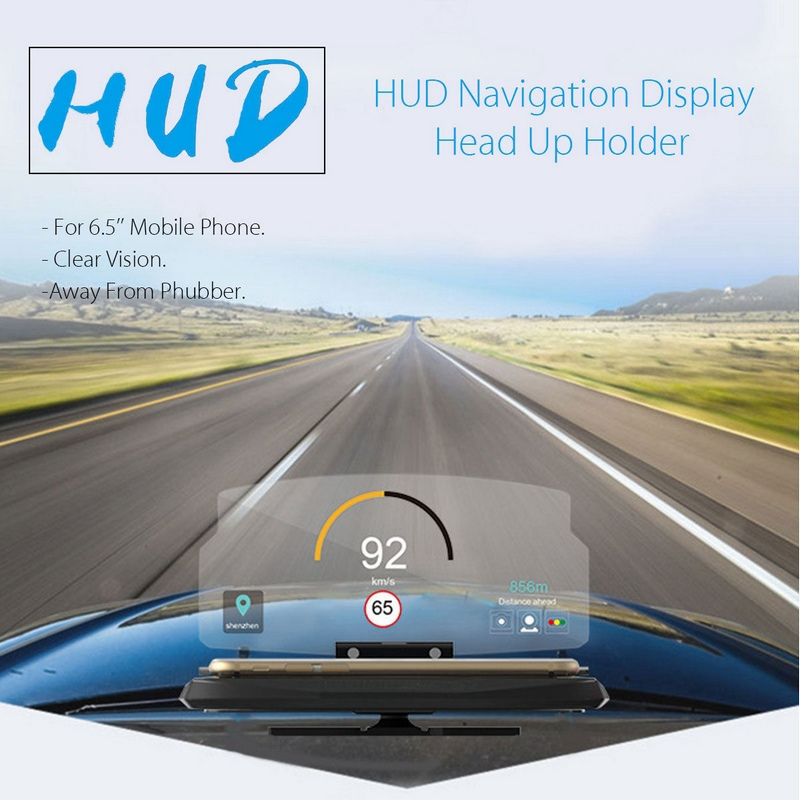 MAYITR 6 5 inch Screen Head Up Display Phone Holder font b Car b font Auto