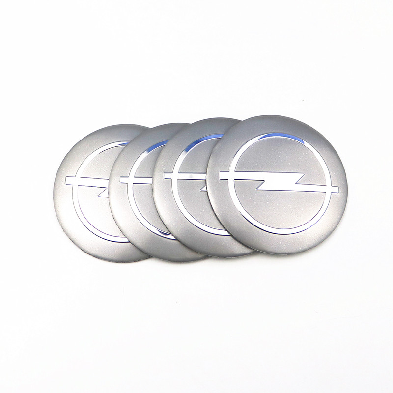 Car Styling 4Pcs Wheel Center Hub Cap Stickers 56.5mm emblems for Opel astra opel astra h astra g insignia Opel mokka car модель машины shook schuco 1 43 opel insignia