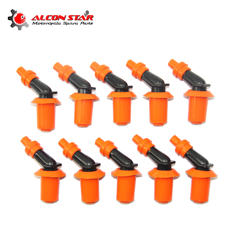 Alconstar Universal 10pcs/pack Motorcycle Engine Spark Plug Cap Used For Honda Gy6 125 150 Scooter Fit On All Model Spark Plug Motorbike Ingition Automobiles & Motorcycles