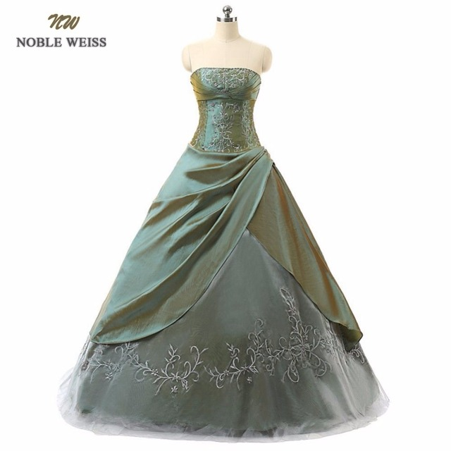 NOBLE WEISS Beading Ball Gown Quinceanera Dresses Embroidery Sleeveless Scalloped Lace Up Back In Stock Formal Dress