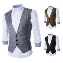Men Suits Vests Gilet New Arrival Men Vest Slim Fit Fashion Male Waistcoat Black custom Colors Formal Business Male Clothing