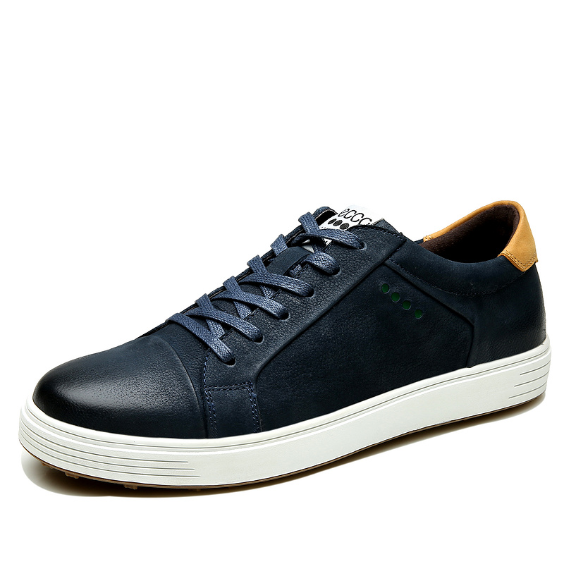 Blue Ecco Leather Casual Shoes Men Lace-up Anti-slip Male Flat Shoes Fashion comfortable Footwear Hot Sale 53830 Two ColorBlue Ecco Leather Casual Shoes Men Lace-up Anti-slip Male Flat Shoes Fashion comfortable Footwear Hot Sale 53830 Two Color