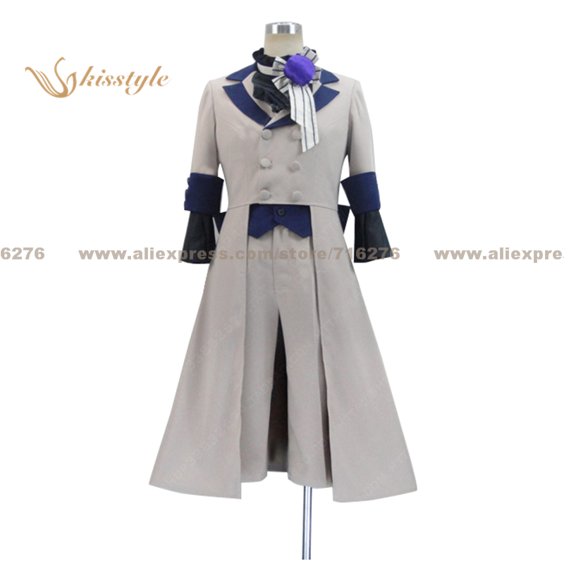 Kisstyle Fashion Black Butler Circus Ciel Phantomhive Grey Uniform COS Clothing Cosplay Costume,Customized Accepted