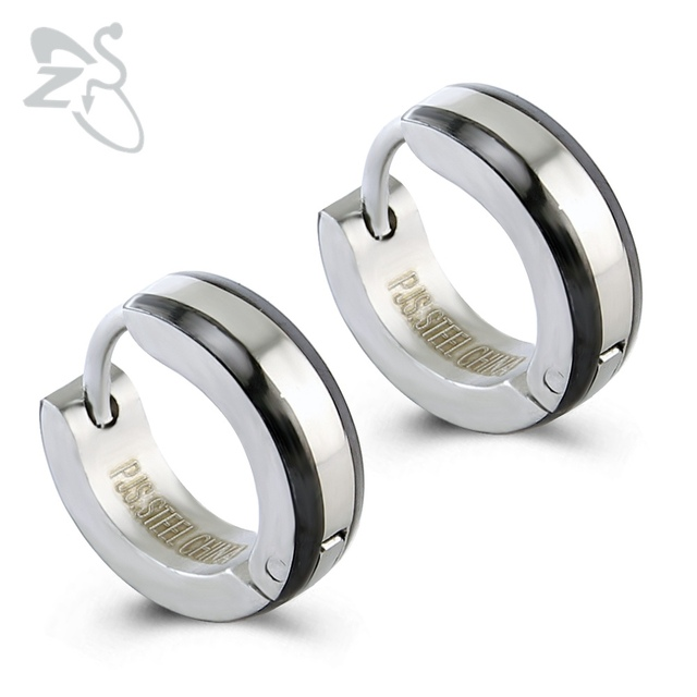 1 Pair Punk Fashion Women Men Huggie Hoop Earrings 316l Surgical Steel Circle Earring High Polish