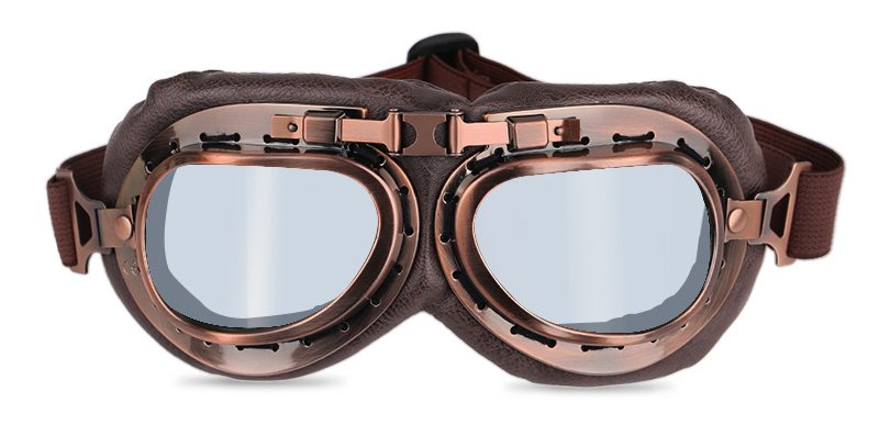 1 pc SEGUNDA GUERRA MUNDIAL do vintage óculos de proteção da motocicleta 046e4fd6e3