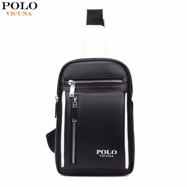 734a569402df VICUNA POLO Fashion Casual Leather Men Messenger Bag Famous Brand Men  Leather Chest Bag Leather Men s
