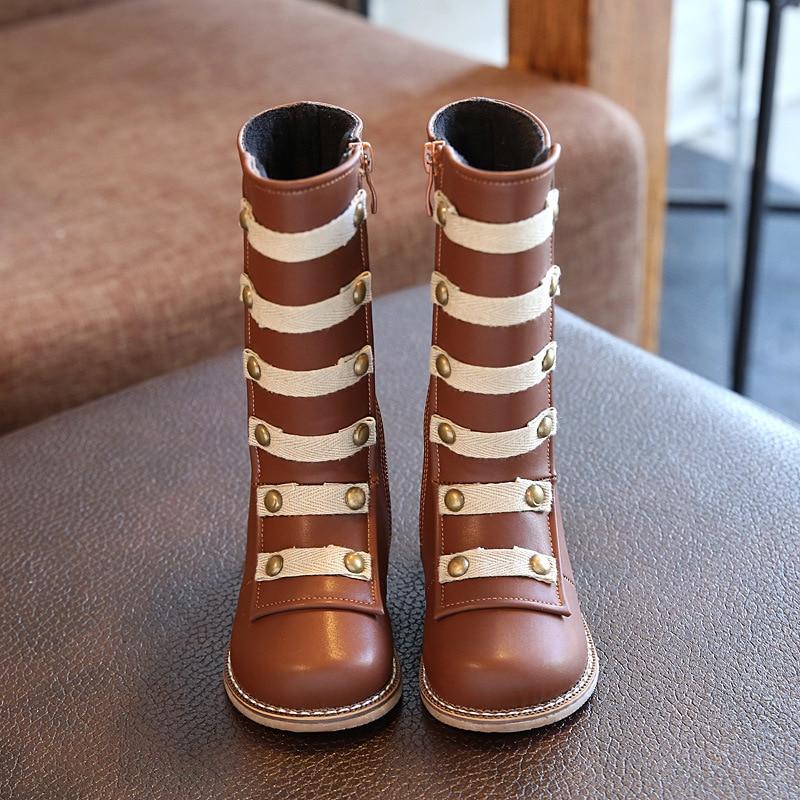 New Children Shoes Korean Girls Rivets
