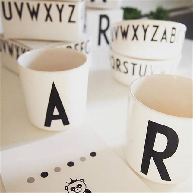 Lovely Children Milk Alphabet Mug Design 26 Letters Baby Drink Cup Coffee Drinkware