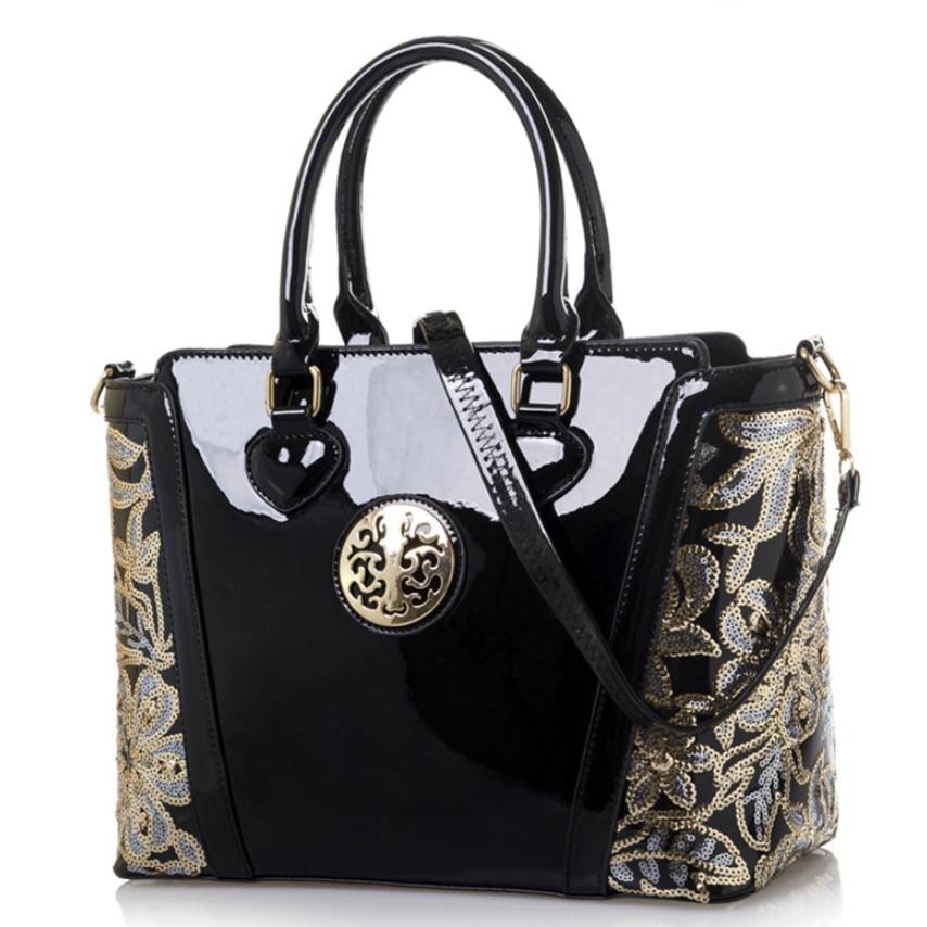 Sacs à main en cuir verni pour femmes bonbons couleurs sacs à bandoulière brillant sac de mise en forme sac seau sacs messenger femme totes Bolso