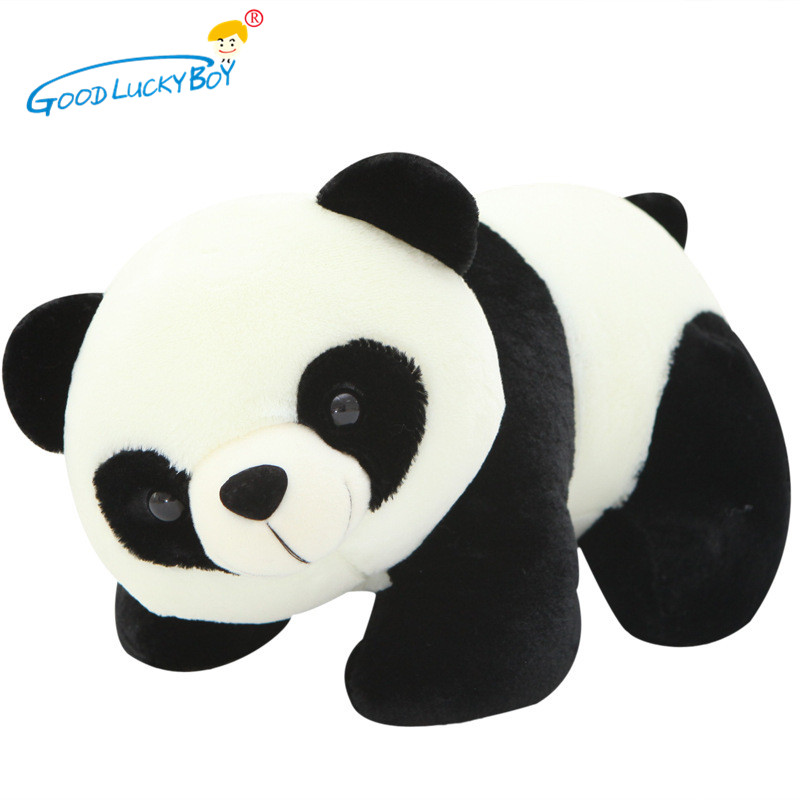 18cm Cute Lovely Panda Plush Stuffed Animal Toy Soft Small Charms KeyChain Plush Appease Doll Toys For Kids Children