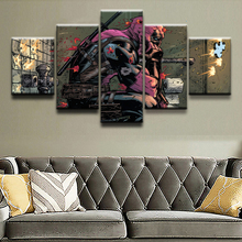 Canvas Prints Paintings Framework Boys Room Decor 5 Pieces Deadpool Marvel Comics Wade Wilson Picture Abstract Poster Wall Art marvel comics universe poster