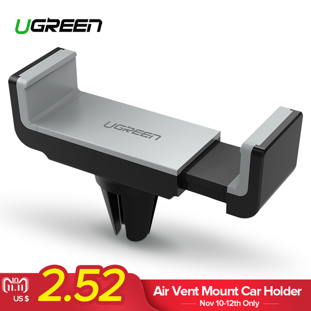 Ugreen Car Phone Holder for iPhone 8 X 7 Mini Air Vent Mount Holder 360 Rotation Car Holder for Phone in Car Phone Holder Stand