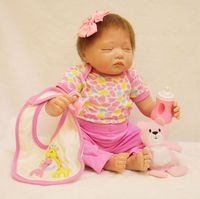 baby doll reborn 2357cm soft 3/4 silicone reborn baby girl dolls toys in Giraffe clothes so beautiful for children bebes reborn