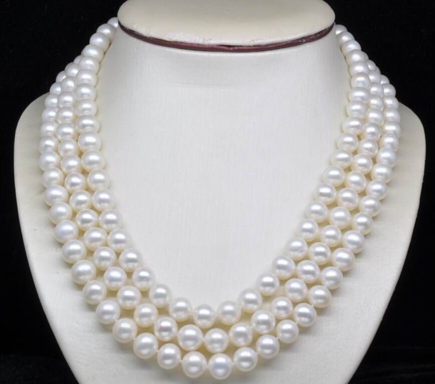 Hot sale new Style >>>>> 8-9MM AA++ White Freshwater Culture Round Pearl Necklaces 48Hot sale new Style >>>>> 8-9MM AA++ White Freshwater Culture Round Pearl Necklaces 48