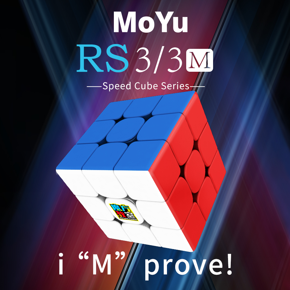 MoYu Mf3rs 3M 3x3x3 Magnetic Magic Cube Classroom Magnets Puzzle Cubes Stickerless Speed Cubo Magico Educational Toys For Kids