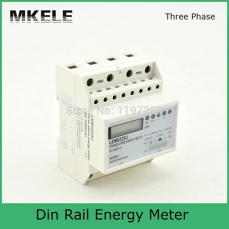 5(100)A 3*230/400V Small Polyphase MK-LEM022SJ Mini Din Rail Electronice Energy Meter