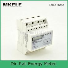 5 (100) 3*230/400 В Небольшой Многофазных Electronice MK-LEM022SJ Мини Din-рейку Счетчика Энергии