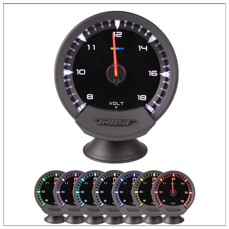 Auto Universal GReddi Sirius Meter Series Trust 7 colors Racing Car Volt Voltage Gauge 2 5