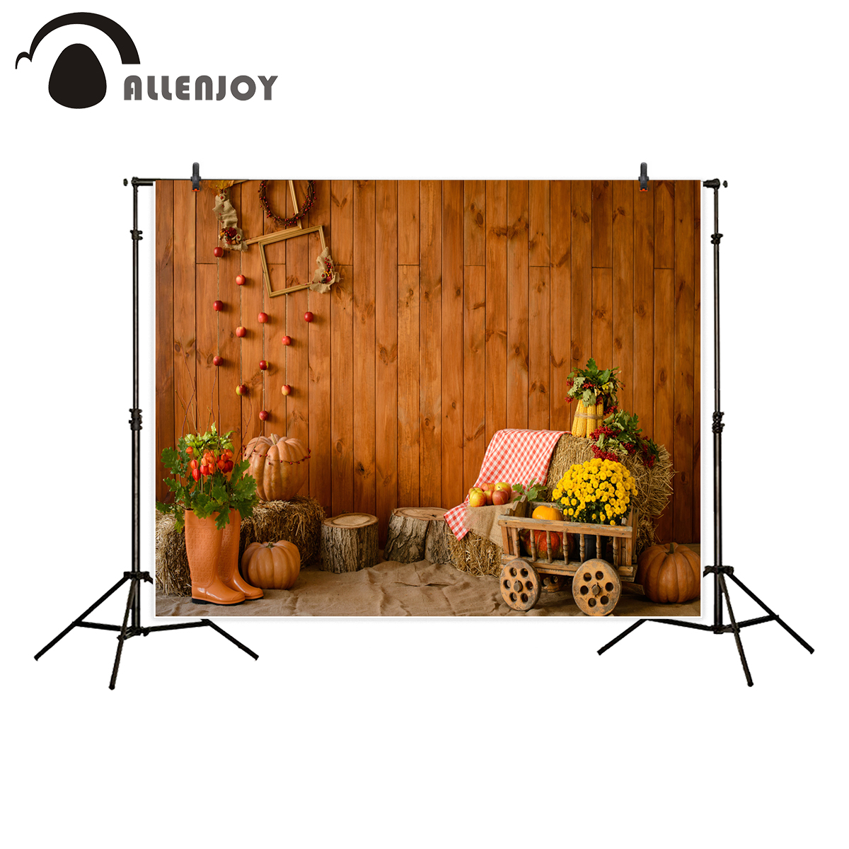 Allenjoy backdrop for photography studio pumpkin wood house countryside autumn background photo shoot new photocall allenjoy photography backdrop flower door wedding children painting colorful background photo studio photocall photo shoot